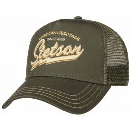 Casquette Baseball Trucker American Heritage kaki - Stetson