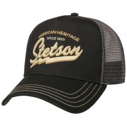Casquette Baseball Trucker American Heritage Noir - Stetson