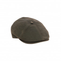 Oxford brown leather cap