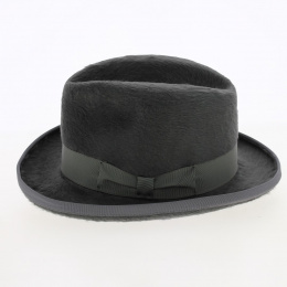 homburg mitterand grey hat