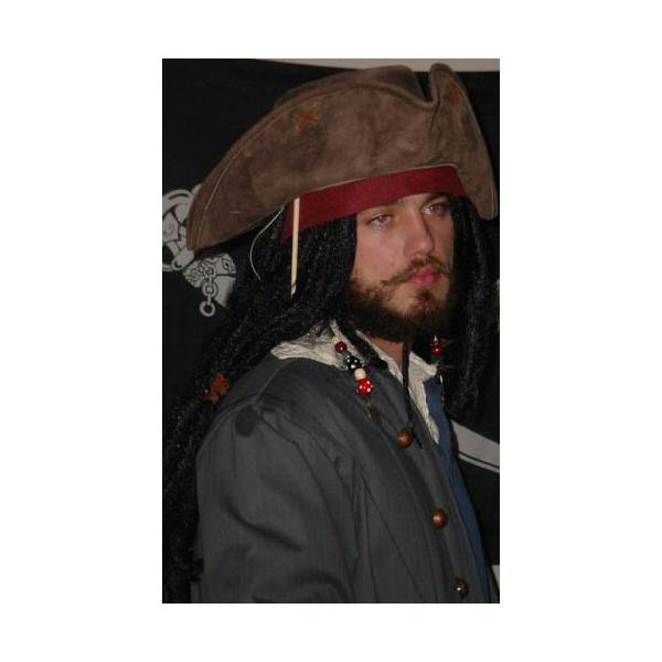 Chapeau tricorne cuir - Jack Sparrow