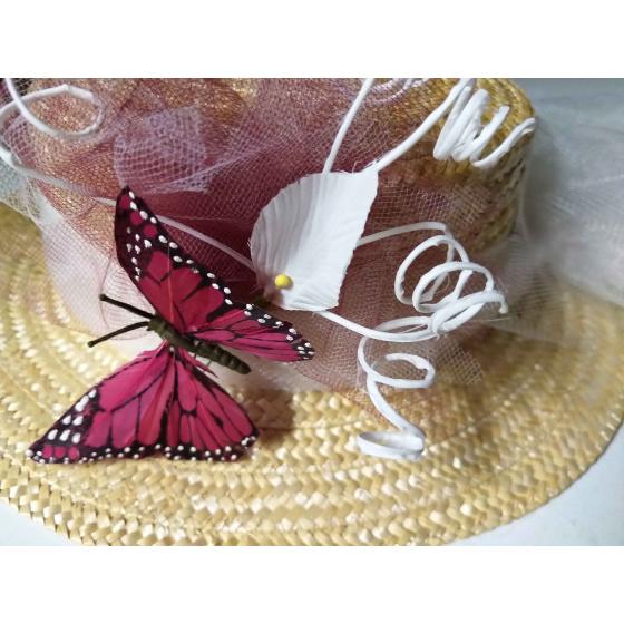 Canotier Papillon Sauvage / Unique creation by Ateliers de la Chapellerie TRACLET