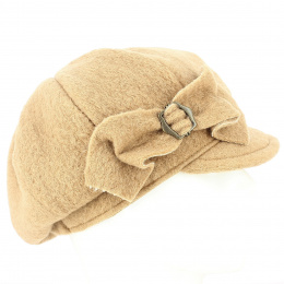 Casquette gavroche  Liliana Camel Laine Bouillie -Traclet
