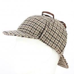 Casquette Sherlock Holmes Deerstalker  Laine Vierge - Traclet