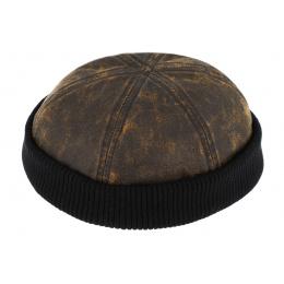 Bonnet Docker Coton Marron & Noir- Traclet