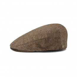Casquette Hooligan brown kaki herringbone