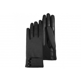 Black polka dot gloves - Isotoner