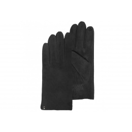 Black leather gloves - Isotoner