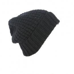 Bonnet Long Bellevarde Laine & Mohair noir - Traclet