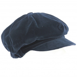 Casquette Gavroche Anna Velours Marine - Traclet