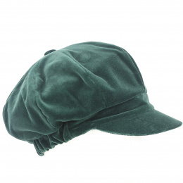 Casquette Gavroche Anna Velours Olive - Traclet