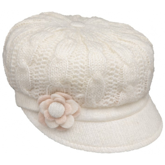 Casquette Gavroche Angèle Tricot Blanche - Traclet