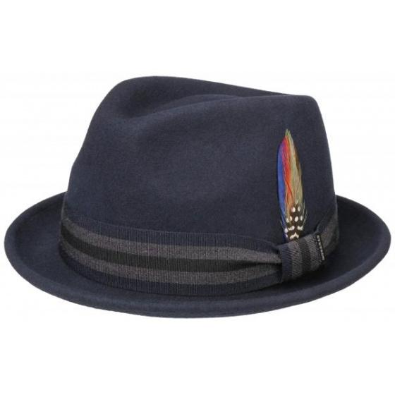 copy of Black felt trilby hat