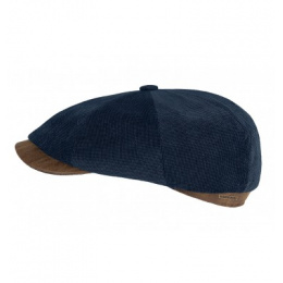 casquette velours fin bleu