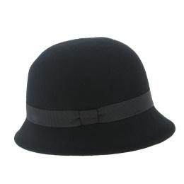 Chapeau Holdy Feutre Laine Noir- Traclet