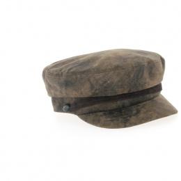 Casquette capitaine cuir vieilli-Apparel
