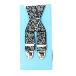 Bretelle fantaisie style bandana - noir