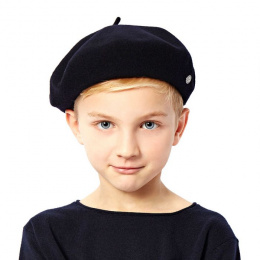 Béret Enfant Petit Basque Noir - Héritage par Laulhère