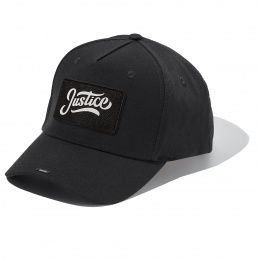 Casquette Black Full Cotton Cap with JUSTICE badge