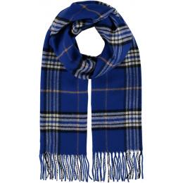 Echarpe Glasgow à carreaux Bleu Royal - Traclet