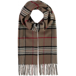 Glasgow scarf Beige check - Traclet