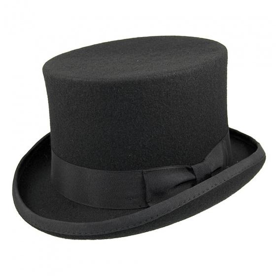 Chapeau Haut De Forme Feutre Laine Noir - Guerra