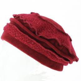 Beret knit Red