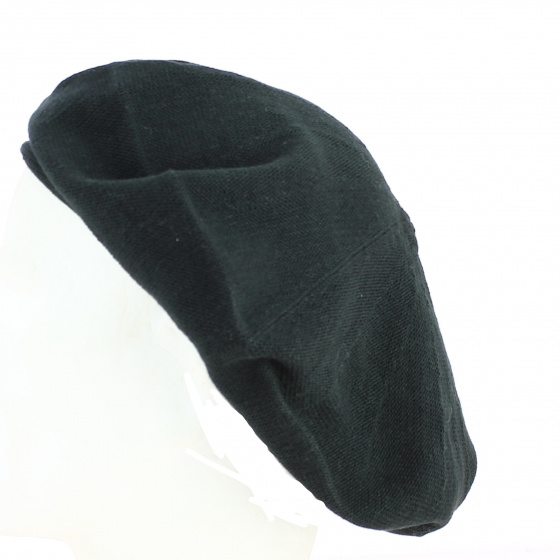 Beret coton Noir