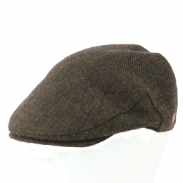Casquette Wicklow  plate Herrinbone Tweed Marron - Traclet