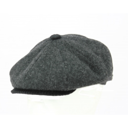 Casquette Irlandaise Frank Laine Anthracite - TRACLET