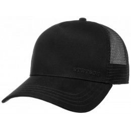 Trucker Baseball Cap Black Cotton- Stetson