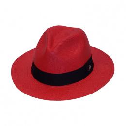 Chapeau Panama Rouge