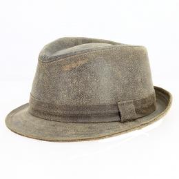 Chapeau Trilby Roo Cuir vintage - Traclet