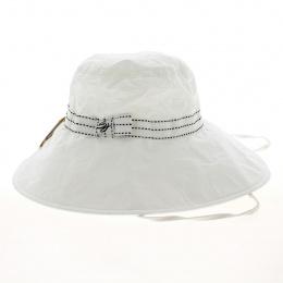 chapeau blanc larges bords anti UV - soway