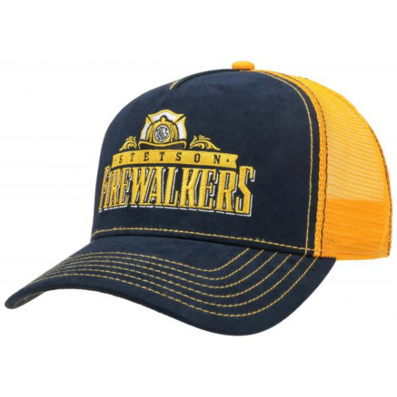 copy of Trucker Connecting Orange & Yellow Cap- Stetson