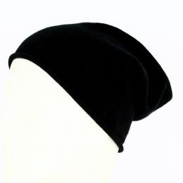 Bonnet noir cashmere-eisbär