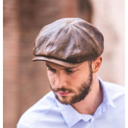 Casquette made in france Houston cuir Vieilli - Crambes