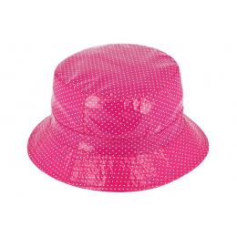 Chapeau Bob de Pluie Charlotte à Pois Rose - Traclet