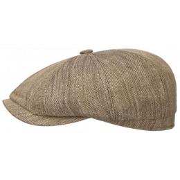 copy of Little Rock Hatteras cap in linen / silk Stetson