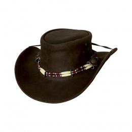 Chapeau en cuir Indiana marron