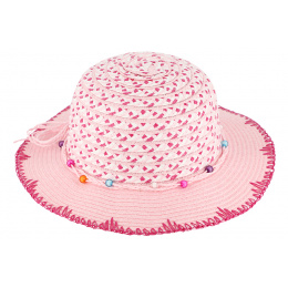 copy of Chapeau Cloche Enfant Havana Paille Papier Rose - Barts