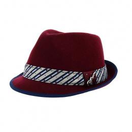 Trilby Ringo Hat Bordeaux