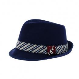 Chapeau Ringo trilby bleu marine