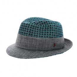 Chapeau Trilby vert et gris