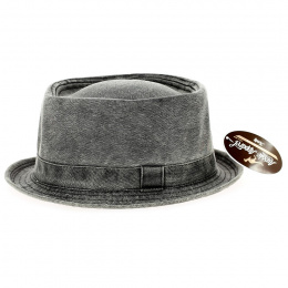 Porkpie Grey Jean Hat - Aussie Apparel