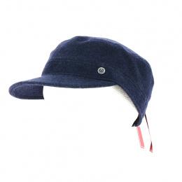 Casquette Army cache-oreilles Gore Tex Bleu foncé - Bugatti