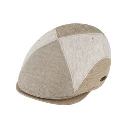 Casquette Plate Coton & Lin Beige- Traclet