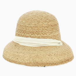 Chapeau Cloche Battista Raphia - Bloom raffia hat - Traclet
