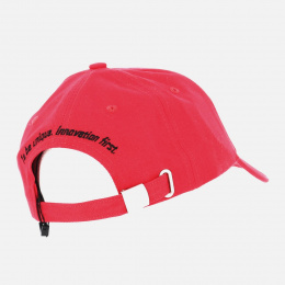 Red Cotton Baseball Cap - Jack Magnan