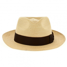 Chapeau Fedora Robbins Panama Marron - Stetson